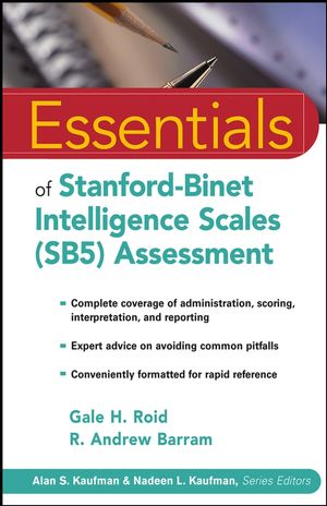 Essentials of Stanford-Binet Intelligence Scales (SB5) Assessment  (0471681881) cover image