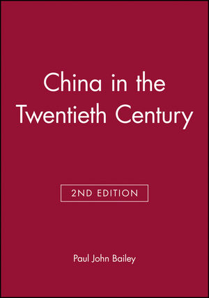 China in the Twentieth Century, 2nd Edition (0631203281) cover image