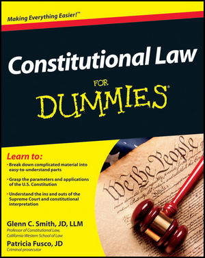 Constitutional Law For Dummies (1118023781) cover image