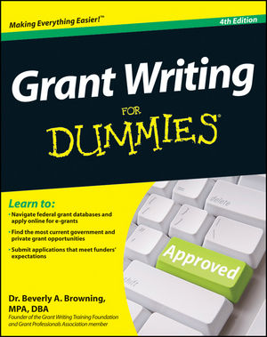 Grant Writing For Dummies, 4th Edition (1118143981) cover image