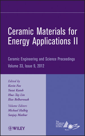 Ceramic Materials for Energy Applications II, Volume 33, Issue 9 (1118530381) cover image