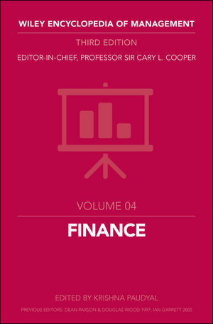 Wiley Encyclopedia of Management, Volume 4, Finanace, 3rd Edition