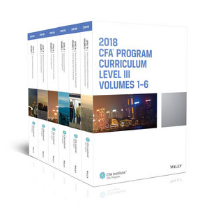 CFA Program Curriculum 2018 Level III, Volumes 1 - 6 Box Set