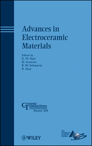 Advances in Electroceramic Materials (0470528982) cover image