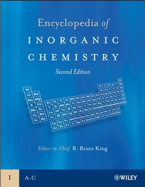 Encyclopedia of Inorganic Chemistry, 10 Volume Set, 2nd Edition (0470860782) cover image