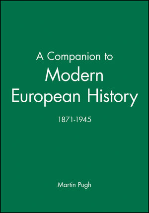 A Companion to Modern European History: 1871-1945 (0631192182) cover image