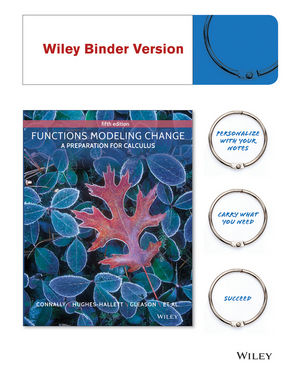Functions Modeling Change: A Preparation for Calculus, Binder Ready Version, 5th Edition