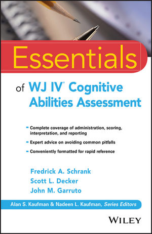 Essentials of WJ IV Cognitive Abilities Assessment (1119163382) cover image
