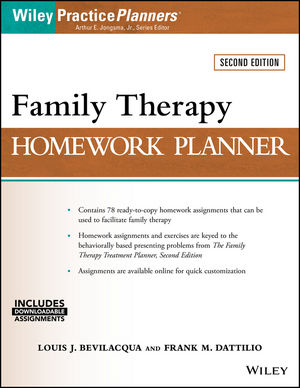 Family Therapy Homework Planner, 2nd Edition