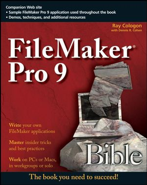 FileMaker Pro 9 Bible (0470332883) cover image