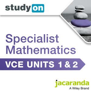 StudyOn VCE Specialist Mathematics Units 1&2 (Online Purchase)