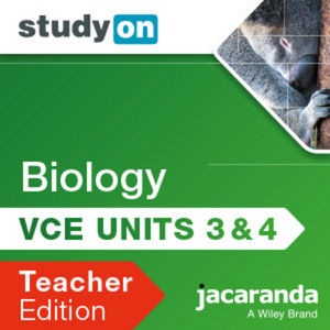 StudyOn VCE Biology Units 3 & 4 3E Teacher Edition (Online Purchase)