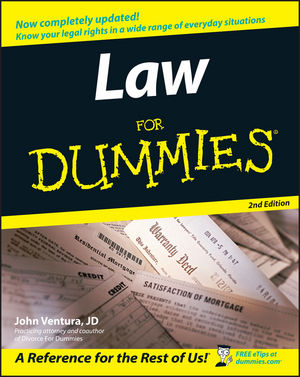 Law For Dummies, 2nd Edition (1118054083) cover image
