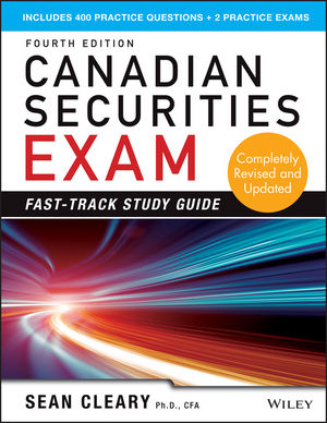 Canadian Securities Exam Fast-Track Study Guide, 4th Edition (1118605683) cover image