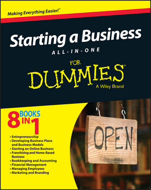 Starting a Business All-In-One For Dummies (1119049083) cover image