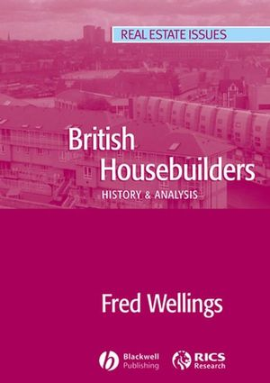 British Housebuilders: History and Analysis (1405149183) cover image