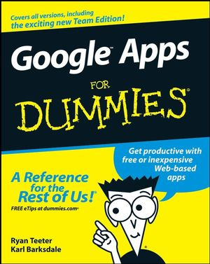 Google Apps For Dummies (0470189584) cover image