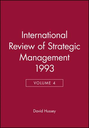International Review of Strategic Management 1993, Volume 4
