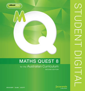 Maths Quest 8 For The Australian Curriculum 2E eBookPLUS (Online Purchase)