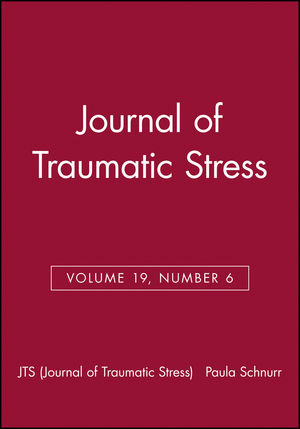 Journal of Traumatic Stress, Volume 19, Number 6 (0787996084) cover image