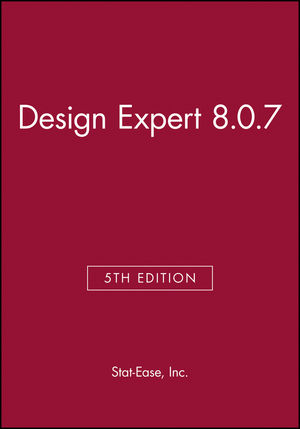 Design Expert 8.0.7 (1118381084) cover image