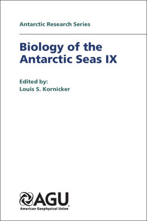 Biology of the Antarctic Seas IX
