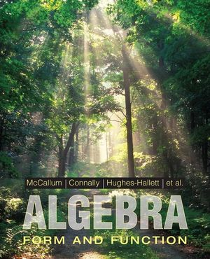 Wiley: Algebra: Form and Function - William G. McCallum, Eric ...