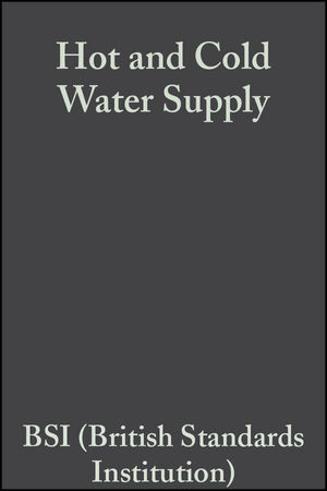 Hot and Cold Water Supply, 2nd Edition