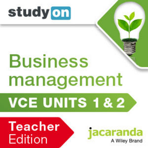 StudyOn VCE Business Management Units 1&2 Teacher Edition (Online Purchase)