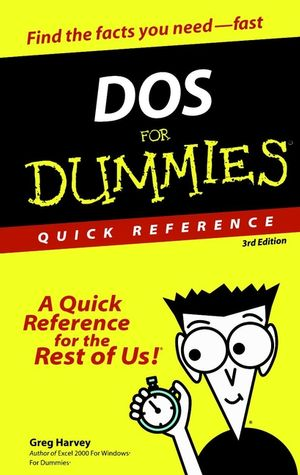 DOS For Dummies Quick Reference , 3rd Edition (0764503685) cover image