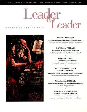 Leader to Leader (LTL), Volume 16, Spring 2000