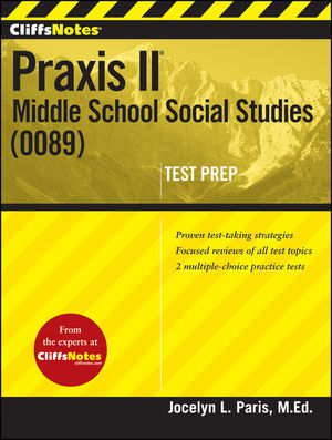 CliffsNotes Praxis II: Middle School Social Studies (0089) (1118131185) cover image