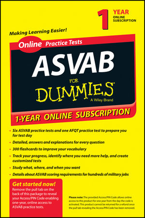 ASVAB For Dummies, 12-Month Subscription Renewal