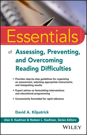 Essentials of Assessing, Preventing, and Overcoming Reading Difficulties  (1118845285) cover image