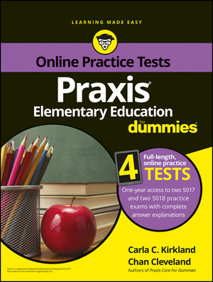 Praxis Elementary Education For Dummies with Online Practice (1119187885) cover image