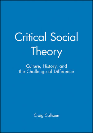 Critical Social Theory: Culture, History, and the Challenge of Difference