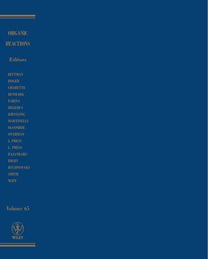 Organic Reactions, Volume 66