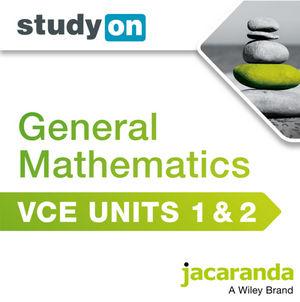 StudyOn VCE General Mathematics Units 1&2 (Online Purchase)