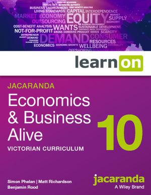 Jacaranda Economics & Business Alive 10 Victorian Curriculum learnOn (Online Purchase)