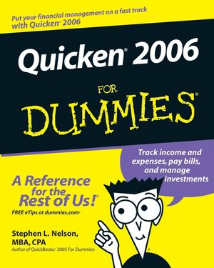 Quicken 2006 For Dummies (0764596586) cover image
