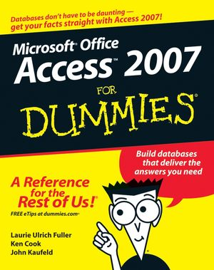 Access 2007 For Dummies (1118050886) cover image