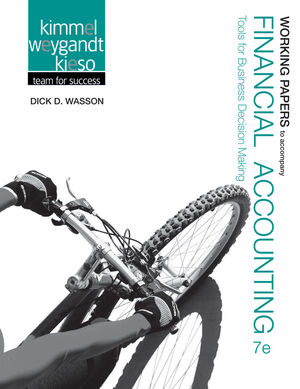 Working Papers to accompany Financial Accounting: Tools for Business Decision Making, 7e (1118344286) cover image