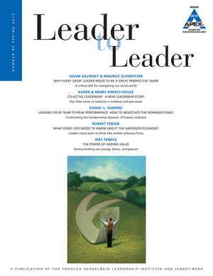 Leader to Leader (LTL), Volume 80, Spring 2016