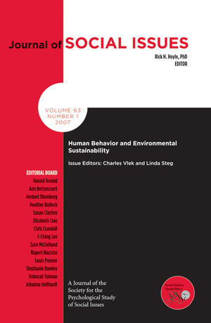 Human Behavior and Environmental Sustainability (1405175486) cover image
