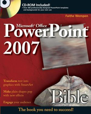 PowerPoint 2007 Bible (0470043687) cover image