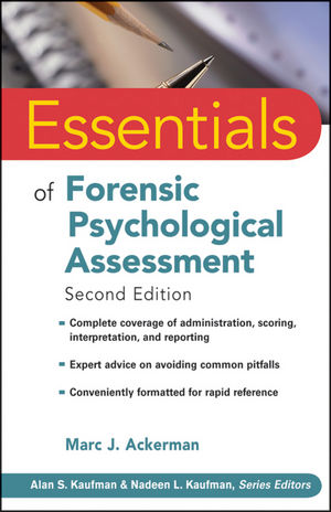 Essentials of Forensic Psychological Assessment, 2nd Edition (0470618787) cover image