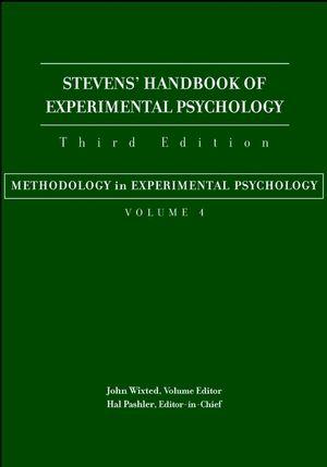 Stevens' Handbook of Experimental Psychology, Volume 4, Methodology in Experimental Psychology, 3rd Edition