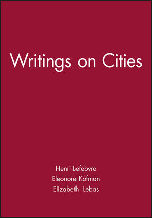 Writings on Cities (0631191887) cover image