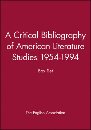 A Critical Bibliography of American Literature Studies 1954-1994: Box Set (0631209387) cover image