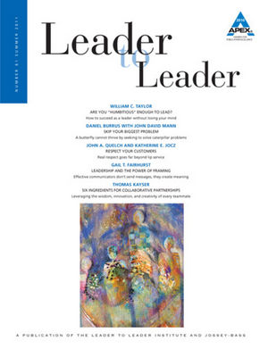 Leader to Leader (LTL), Volume 61, Summer 2011 (1118025687) cover image
